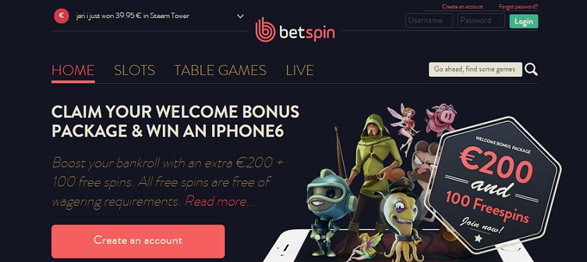 bet spins casino bonus